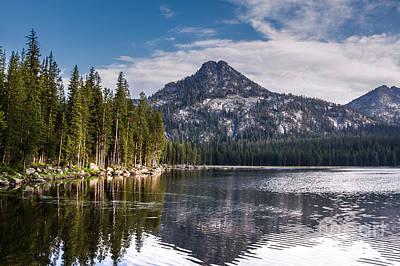 Haybales Photograph - Lake Reflection by Robert Bales