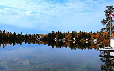 Lake Reflections Art Print by Larry Trupp