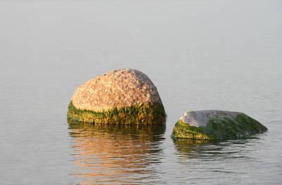 Cottage Photograph - Lake Rocks by Heather Allen