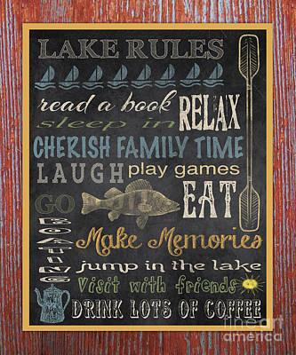 Lake Rules-relax-red Original