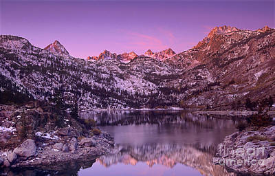Art Print featuring the photograph Lake Sabrina Sunrise Eastern Sierras California by Dave Welling