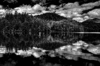 Photograph - Lake Santeetlah In Black And White by Greg Mimbs