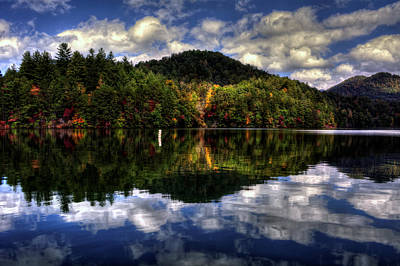 Yellow Photograph - Lake Santeetlah In Fall by Greg Mimbs
