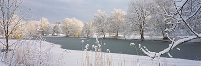 Snow-covered Landscape Photograph - Lake Schubelweiher Kusnacht Switzerland by Panoramic Images