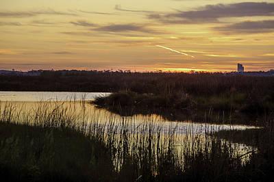 Pier Digital Art - Lake Shelby Sunrise by Michael Thomas