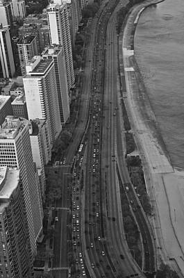 Photograph - Lake Shore Drive In Black And White by Sheryl Thomas