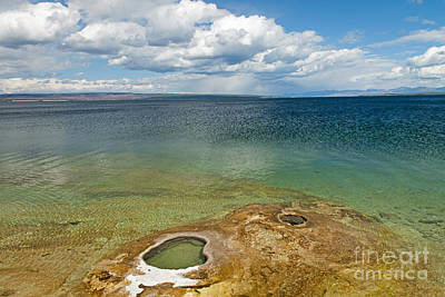 Photograph - Lake Shore Geyser In West Thumb Geyser Basin by Fred Stearns