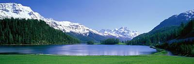 Lake Silverplaner St Moritz Switzerland Art Print