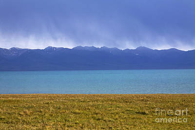 Kyrgyzstan Photograph - Lake Song Kul In Kyrgyzstan by Robert Preston