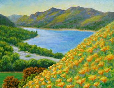 Lake Sonoma Poppies Art Print by David LeRoy Walker