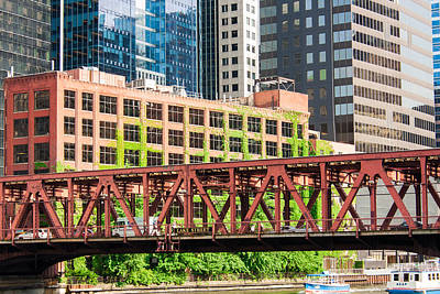 Photograph - Lake Street Bridge Chicago by Semmick Photo