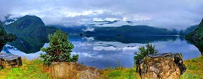 Discount Codes Wall Art - Photograph - Lake Suldalsvatnet Panorama by Julia Fine Art And Photography