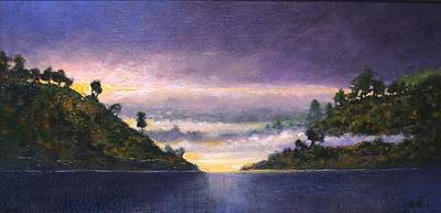 Mountain Scenery Wall Art - Painting - Lake Sunrise by Jim Gola