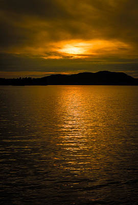 Photograph - Lake Sunset by Dave Hall