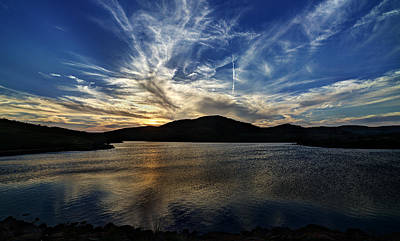 Lake Sunset In The Wichita Mountains Art Print