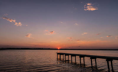 Photograph - Lake Sunset Over Pier by Todd Aaron