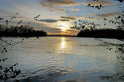 Purchase Online Photograph - Lake Sunset by Steven Michael