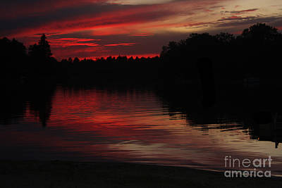 Photograph - Lake Sunset by Tom Griffithe