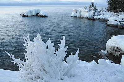 Lake Superior Blues Print by Sandra Updyke