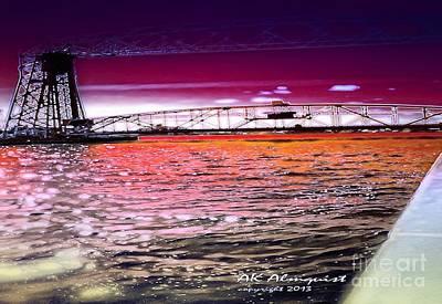 Duluth Digital Art - Lake Superior Bridge by Ann Almquist