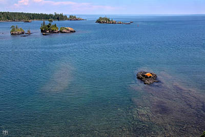 Photograph - Lake Superior From Rock Harbor Light by John Meader