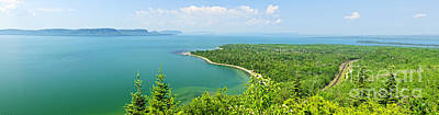 Lake Superior Panorama Print by Elena Elisseeva