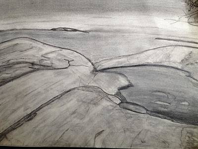 Drawing - Lake Superior Provincial Park by Paula Brown