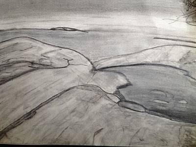 Drawing - Lake Superior Provincial Park by Paula Brown