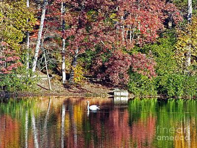 Lake Susan Reflections Print by Lydia Holly
