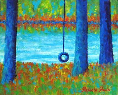Painting - Lake Swing Tranquility by Pamela Poole