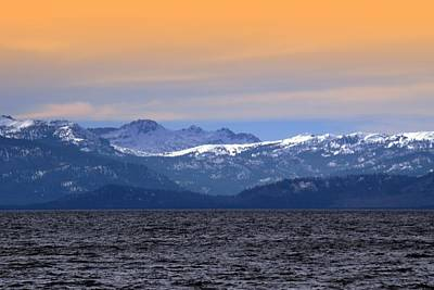 Photograph - Lake Tahoe And The Sierra Nevada Mountains by Frank Wilson