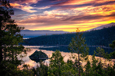 Photograph - Lake Tahoe At Dusk by Celso Diniz