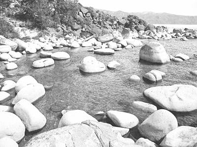 Photograph - Lake Tahoe Boulders by Frank Wilson