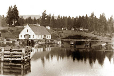 Photograph - Post Office, Lake Tahoe California Circa 1890 by California Views Archives Mr Pat Hathaway Archives