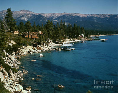 Photograph - Lake Tahoe California Nicholas Vingrad Photo 2x2 Transparency 1957 by California Views Archives Mr Pat Hathaway Archives