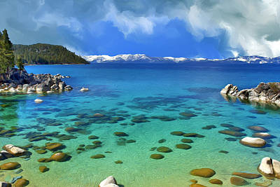 Lake Tahoe Cove Art Print by Dominic Piperata