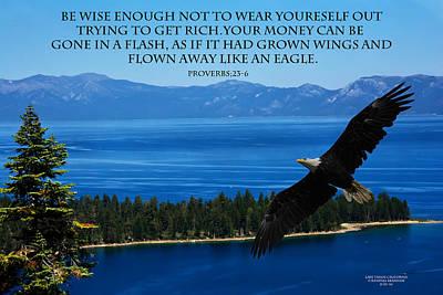 Valentines Day - LAKE TAHOE EAGLE Proverbs by Randall Branham