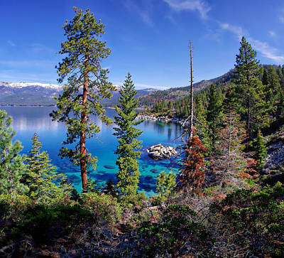 Sand Harbor Photograph - Lake Tahoe Eastern Shore by Scott McGuire