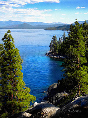 Lake Tahoe From The Rubicon Trail Art Print by Frank Wilson