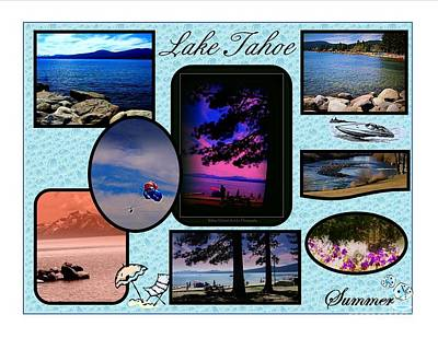 Photograph - Lake Tahoe In Summer Poster by Bobbee Rickard