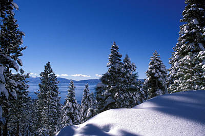 Lake Tahoe In Winter Art Print by Kathy Yates