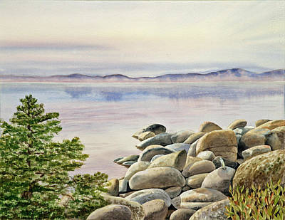 Sea View Painting - Lake Tahoe by Irina Sztukowski