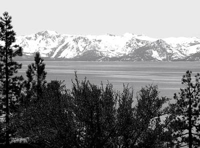 Photograph - Lake Tahoe Monochrome by Will Borden