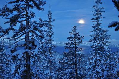 Lake Tahoe Moonset Art Print by Bruce Friedman