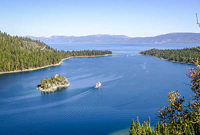Photograph - Lake Tahoe Paddle Boat by Shey Stitt