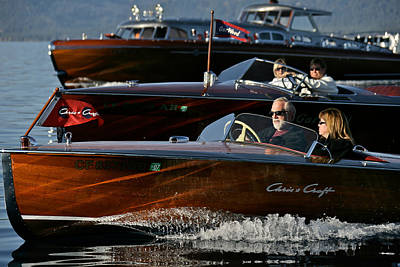 Lake Tahoe Speedboats Art Print by Steven Lapkin