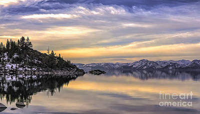Lake Tahoe Sunrise Art Print by Nancy Marie Ricketts