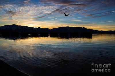 Lake Tahoe Sunset Art Print by Suzanne Luft