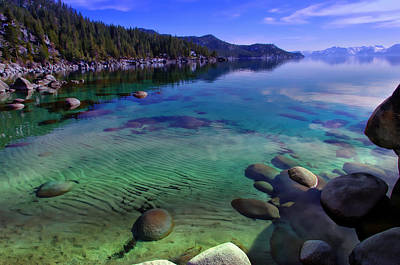 Green Lakes State Park Wall Art - Photograph - Lake Tahoe Waterscape by Scott McGuire