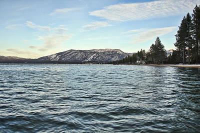 Lake Tahoe Windy Evening Print by Philip Tolok